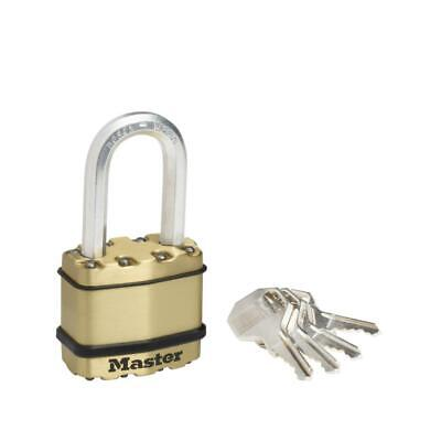 M1BEURDLF Master Lock Schloss EXCELL Messing-Finish 45mm Bügel 38mm D 8mm