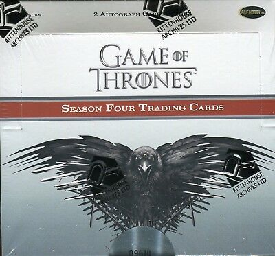 Game of Thrones Season 4 Four Wax Box 24 Count Autograph Sketch