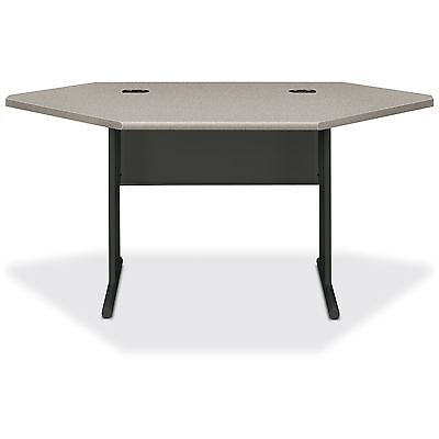 "HON Corner Desk 66""x36""x29-1/2"" Patterned Gray/Charcoal 66282G2S"