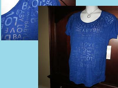 "3X NEW Motherhood Maternity ""BABY LOVE"" Burnout Tee Spring Tee Plus Size NWT"