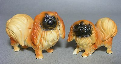 Pair of Mini Bone China Japan Pekingese Dog Figurines