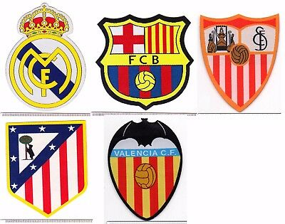 uk R Madrid Barca Atletico Valencia spain soccer iron-on embroidered patch badge