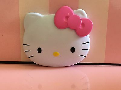 Adorable White Hello Kitty Cat Molded Compact Mirror - New With Defects -