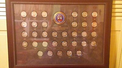 National Wild Turkey Medallion Collection  1976 – 2008 in a beautiful display