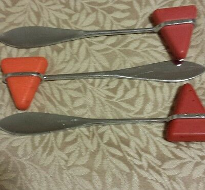 Lot of 3 Percussion Reflex Hammer Stainless Steel Medical Surgical