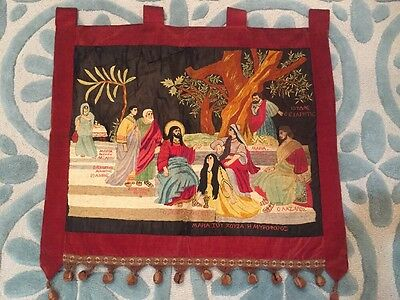Antique Eastern European Hand-sewn Tapestry 20th Century