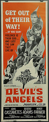 Devil's Angels 1967 Orig 14X36 Movie Poster John Cassavetes Beverly Adams Corman
