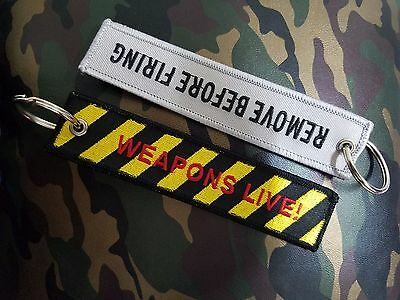 Weapons Live Remove Before Firing Key Chain, Luggage Tag, Free Global Shipping