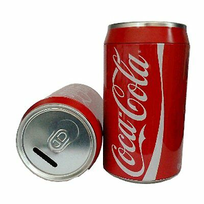 Coca Cola Novelty Money Box (20cm) - Coca Cola Tin Money Box / Cola Can