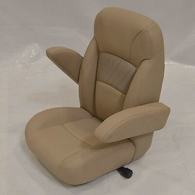 Reclining Boat Captains Chair Tan