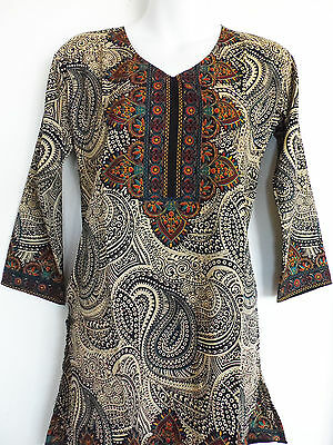 Indian Designer Crepe bollywood kurti ethnic top Kurtis Tunics for Women MED
