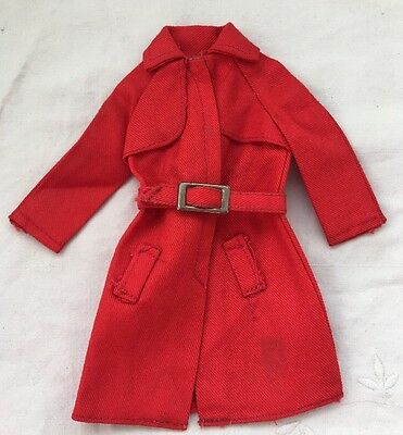 Vintage Barbie Doll 3409 Tagged RED For RAIN TRENCH COAT