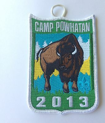 2013 Camp Powhatan patch (white) - Blue Ridge Scout Reservation - Boy Scouts
