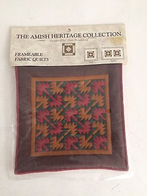 THE AMISH HERITAGE COLLECTION FRAMABLE SINGLE FABRIC  QUILT- By ANN DEZENDORF