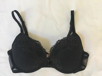 Victoria's Secret Angels Black Lace Push-Up Bra – 34D