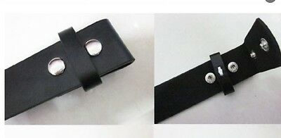 Belt For Buckles Black Snap On Change Buckle P.U Adjustable Size 32 34 36 38cm