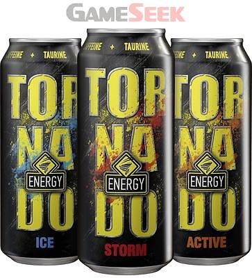 Tornado Gaming Energy Drink Boost (Active) (12 X 500Ml Cans)