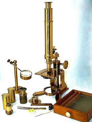 OSBORNE & Co Opticians 41,ChurchSl SHEFFIELD,antique MICROSCOPE