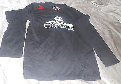 Michelin Man tire long sleeve black shirt made in France men's large
