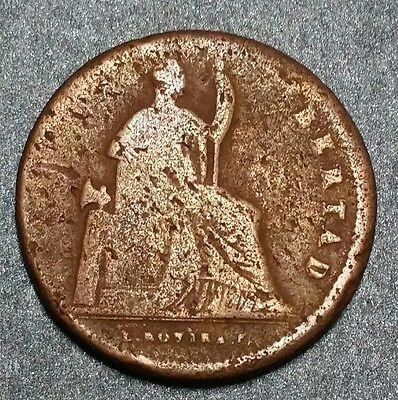 1842 ☆Mexico ☆1/8 de Real Mo, Seldom Seen Brown Circulated Gorgeous Copper !!