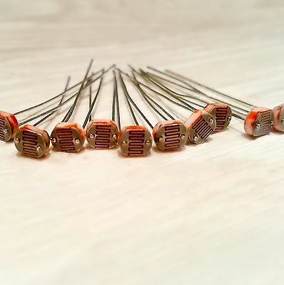 10 x Light Dependent Photoresistors 5516 LDR 5mm Sensor for Arduino, PIC - UK