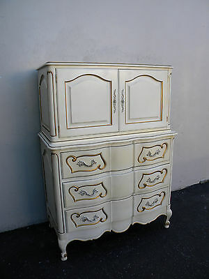 French Painted Serpentine Chest on Chest / Chest of Drawers 3365