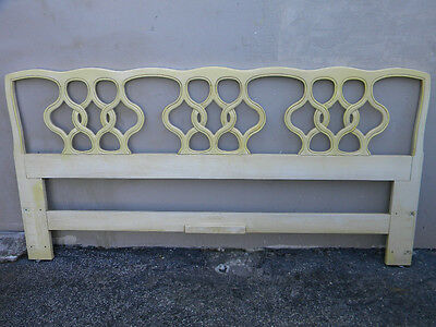 French Painted Cherry King Size Headboard by Henredon 1474