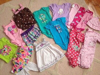 Lot Of Baby Girl Clothes 0-3 Months Spring Summer