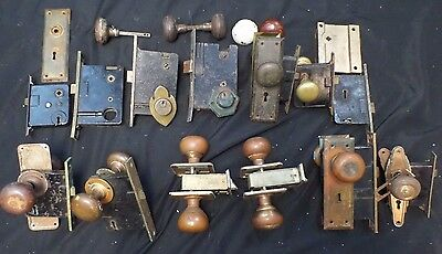 Vintage Metal Door Knobs,Mortise Lock,Copper,Skillman,Sargent & Co, Lot of 14