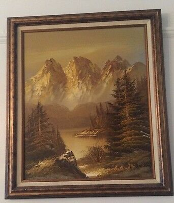 Beautiful Oil Painting On Canvas ,Vintage, signed by artist H.Thomas