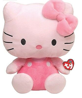 "Ty Beanie Babies Hello Kitty Pink  6"" Plush Stuffed Toy"