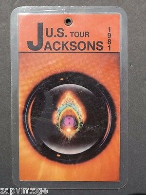 Vtg All Access Backstage Pass / VIP Laminate - Jacksons 1981 U.S. Tour (1 of 50)