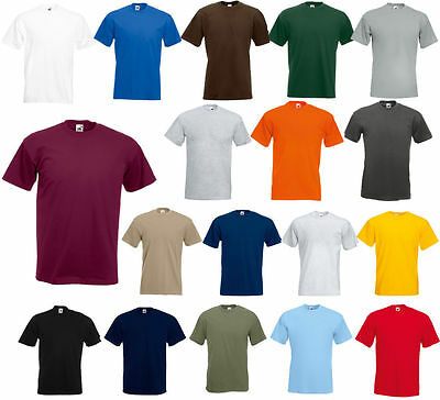 Fruit of the Loom Men's(S~4XL &  5~10 oz) Short Sleeves HD cotton T-Shirt