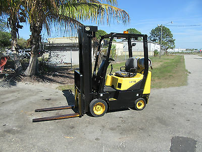 DaeWoo GC15 3000LB Forklift Pneumatic Tires Automatic Propane Side Shift 677 Hrs