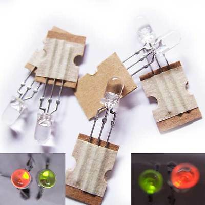 5x 5mm RED GREEN Dual Colour 3 PIN Common Anode LEDS  Christmas RG - 5 PCs