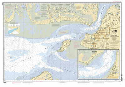 2011 Nautical Map of Cook Inlet Anchorage Alaska