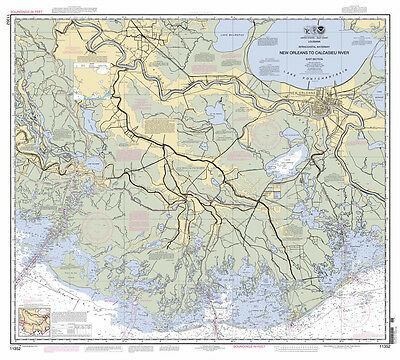 2012 Map of New Orleans Intracoastal Waterway