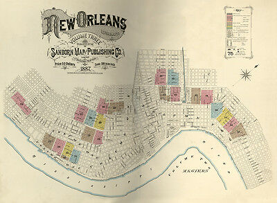 1887 Map of New Orleans Louisiana