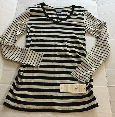 Women's Oh Baby By Motherhood Long Sleeve V Neck Top Size Medium