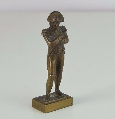Small Brass Figure of Napoleon 1870's w Appraisal