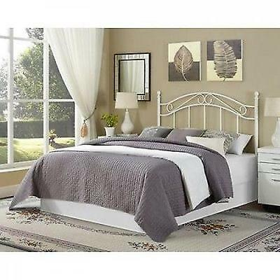 traditional metal white full queen size headboard bed bedroom frame furniture picclick ca. Black Bedroom Furniture Sets. Home Design Ideas