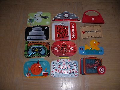 Target  12 different new collectible gift cards