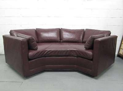 Vintage Leather Sofa Mid Century Modern