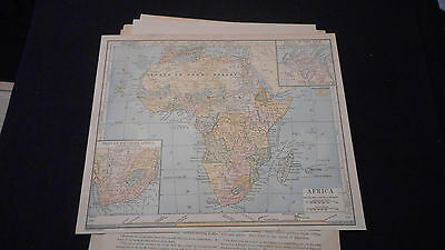 1887 Map Africa Color Map  11 1/2 X 9 1/2