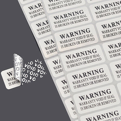 88 Pcs Void Security Labels Removed Tamper Evident Stickers Warranty Practical