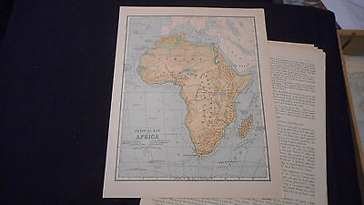 1881 Appletons Africa Color Map  12 X 9 1/2 See Others In Store