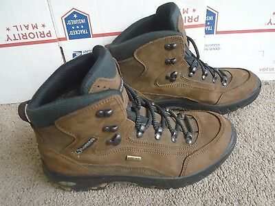 LOWA Gore-Tex brown leather women's hiking boots size 8M