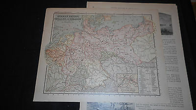 1881 Appletons German Empire Holland B Color Map  12 X 9 1/2 See Others In Store