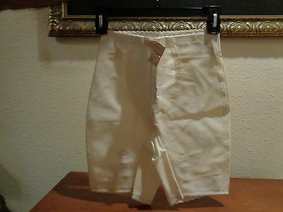 Vintage Maidenform Concertina Long Leg Shaper Girdle White Size M Style 661 NWT