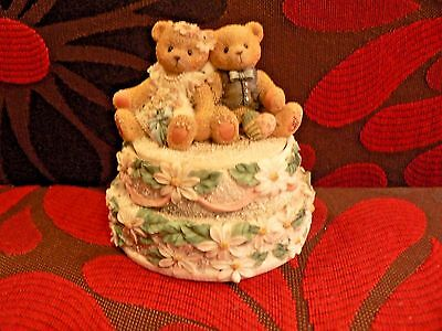 Cherished Teddies Wedding Cake Bride Groom Enesco 1998